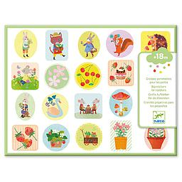 100 sticker en volume jardin Djeco
