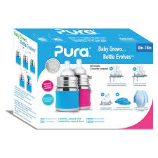 Pura Baby 150ml, set cadeau, Aqua&Pink