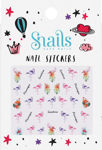 Nail Stickers - Flamant