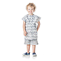 Bumkins Short-Sleeved Art Smock - Grey Chevron